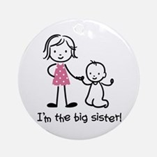 Big Sister - Stick People Ornament (Round)