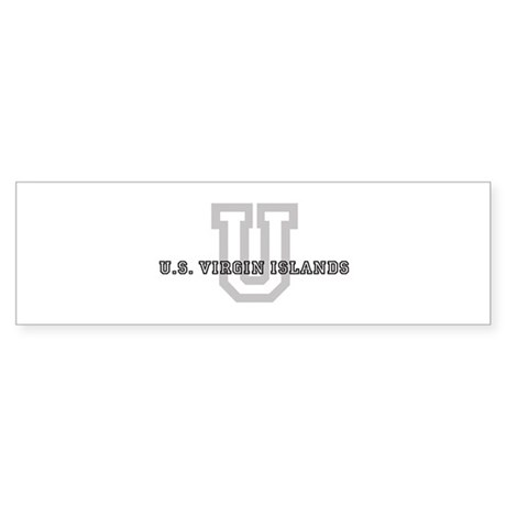 Letter U: U.S. Virgin Islands Bumper Sticker
