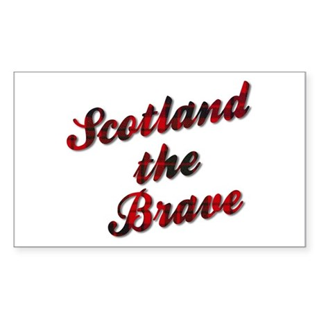 Scotland the Brave Sticker (Rectangle)