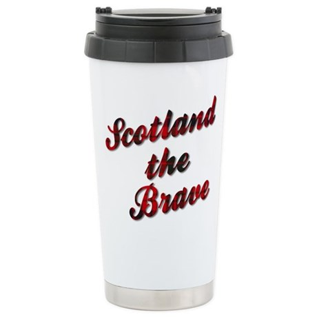 Scotland the Brave Stainless Steel Travel Mug