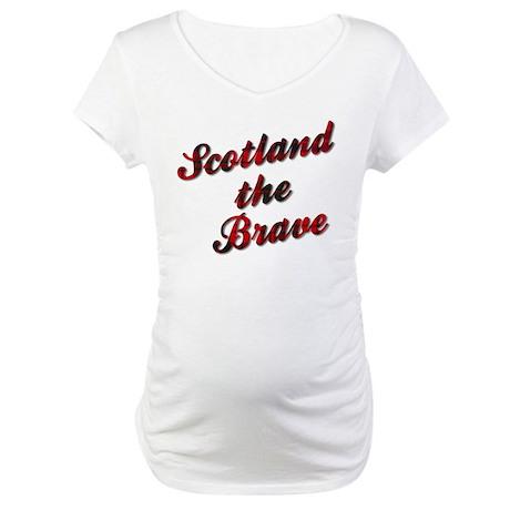 Scotland the Brave Maternity T-Shirt