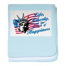 Pursuit of Happiness baby blanket