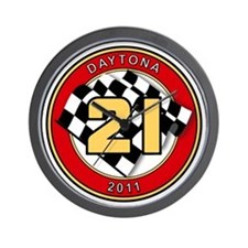 Daytona 2011 - The 21 Car Wall Clock
