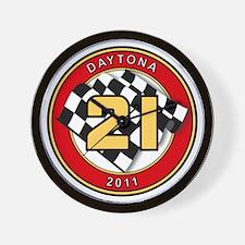 Daytona 2011 - The 21 Car Wall Clock