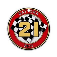 Daytona 2011 - The 21 Car Ornament (Round)