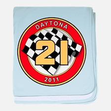 Daytona 2011 - The 21 Car baby blanket