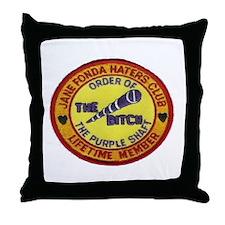 FONDA HATERS Throw Pillow