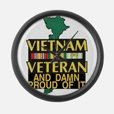 VIETNAM PROUD OF IT Large Wall Clock