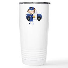 Female Police Officer Travel Mug