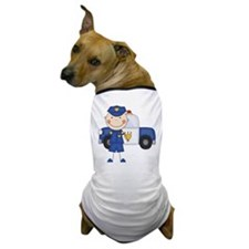 Stick Figure Police Officer Dog T-Shirt