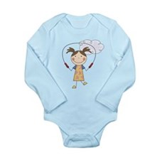 Girl Jumping Rope Long Sleeve Infant Bodysuit