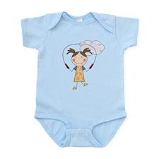 Girl Jumping Rope Infant Bodysuit