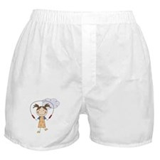 Girl Jumping Rope Boxer Shorts