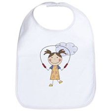 Girl Jumping Rope Bib