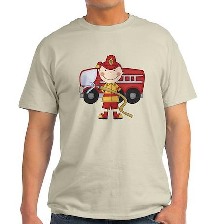 Male Firefighter Light T-Shirt
