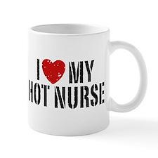 I Love My Hot Nurse Small Mugs