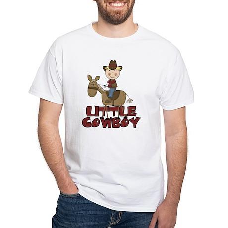 Little Cowboy White T-Shirt