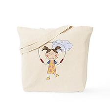 Girl Jumping Rope Tote Bag