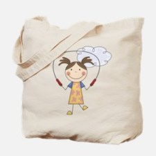 Girl Jumping Rope Tote Bag