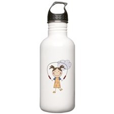 Girl Jumping Rope Water Bottle