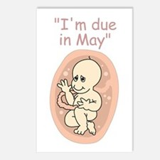 I'm due in May (due date) Postcards (Package of 8)