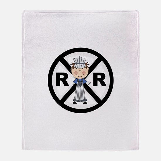 Railroad Conductor Throw Blanket