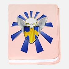 Swedish Defender baby blanket