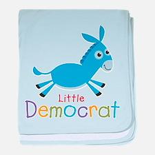 Little Democrat baby blanket
