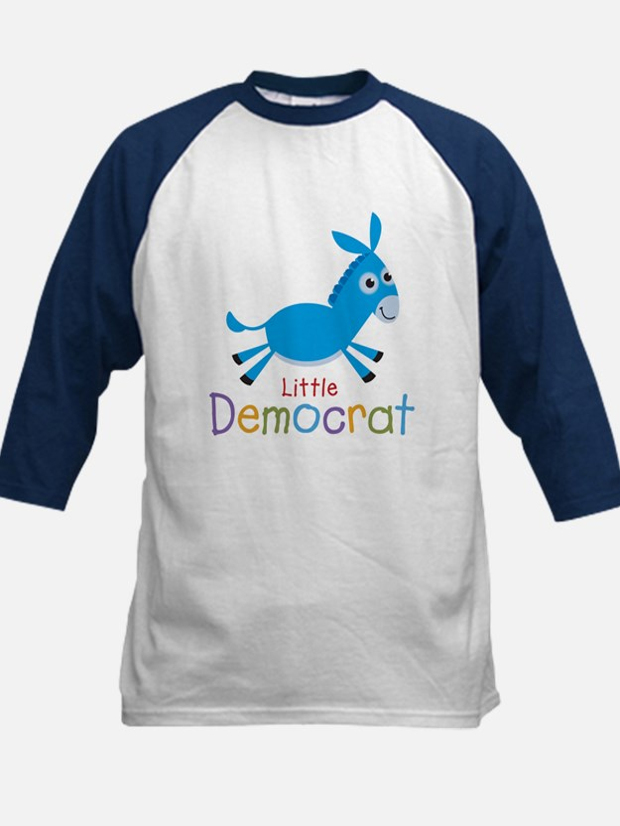 Little Democrat Kids Baseball Jersey