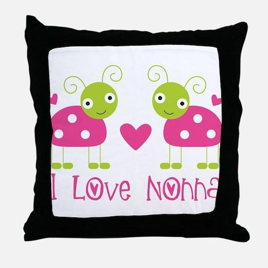 I Love Nonna Ladybug Throw Pillow