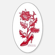 High heel's Flower R Decal