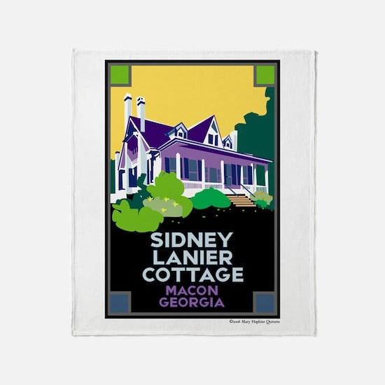 Sidney Lanier Cottage, Macon Throw Blanket