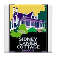 Sidney Lanier Cottage, Macon Tile Coaster