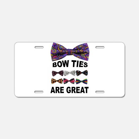 BOW TIES Aluminum License Plate