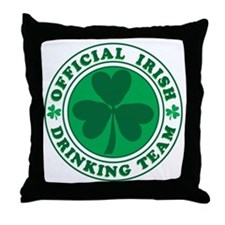 Official IRISH Drinking Team Throw Pillow