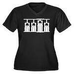twenty niner Women's Plus Size V-Neck Dark T-Shirt