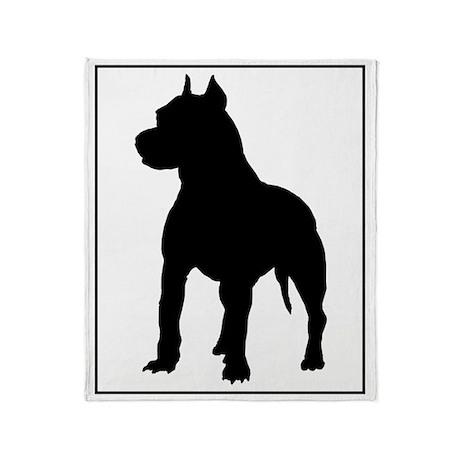 Pit Bull Terrier Silhouette Throw Blanket