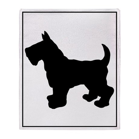 Scottish Terrier Silhouette Throw Blanket