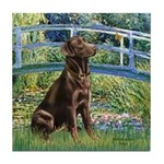 Bridge / Labrador (Choc) Tile Coaster