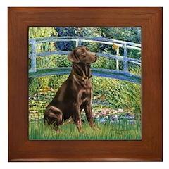 Bridge / Labrador (Choc) Framed Tile
