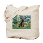 Bridge / Labrador (Choc) Tote Bag