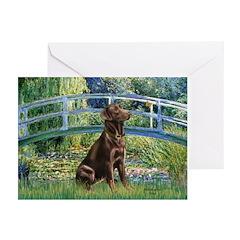 Bridge / Labrador (Choc) Greeting Cards (Pk of 10)