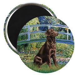 """Bridge / Labrador (Choc) 2.25"""" Magnet (100 pack)"""