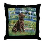 Bridge / Labrador (Choc) Throw Pillow