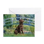 Bridge / Labrador (Choc) Greeting Card