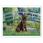 Bridge / Labrador (Choc) Small Poster