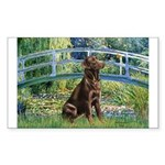 Bridge / Labrador (Choc) Sticker (Rectangle 10 pk)