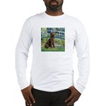 Bridge / Labrador (Choc) Long Sleeve T-Shirt