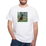 Bridge / Labrador (Choc) White T-Shirt