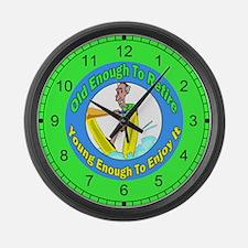 Retirement Large Wall Clock